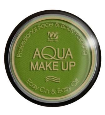 Tarro maquillaje al agua en verde 15gr.