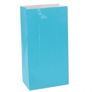 Bolsa de papel turquesa 12und