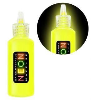 Bote maquillaje amarillo fluor