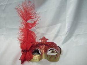 Mascara veneciana pluma lateral