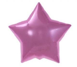 Globo foil estrella rosa pastel