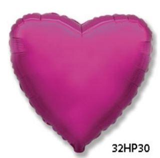 Globo foil corazón fucsia 32