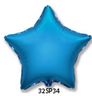 Globo foil estrella azul 32