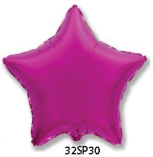 Globo foil estrella fucsia 32