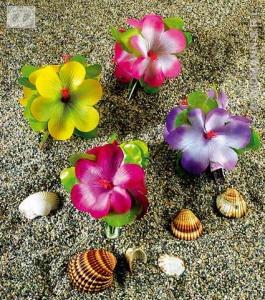 Flor hibiscus para el pelo