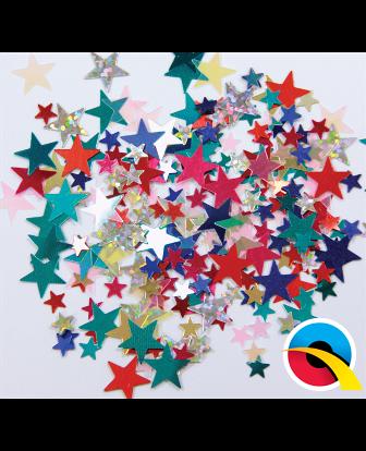 Confeti estrellas multicolor