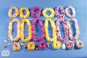 imagen Conjunto hawaiano collar, corona y pulsera