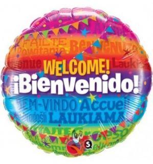 Globo foil welcome! bienvenido!