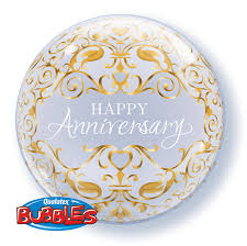 Globo bubble Happy Anniversary