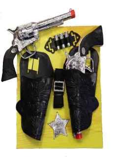 Cartuchera y pistola vaquero infantil