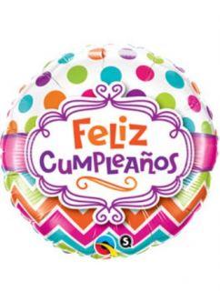 Globo foil feliz cumpleaños