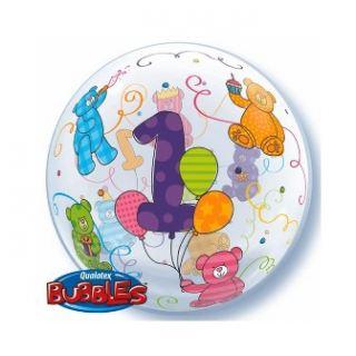 Globo bubble primer añito animales