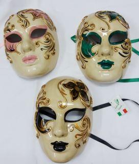 Máscara veneciana volto anticata fiori