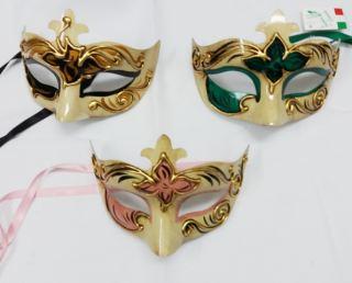 Máscara veneciana colombina anticata fiori