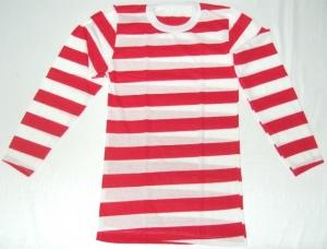 imagen Camiseta rayas rojas y blancas