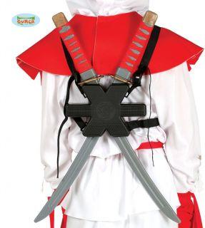 Espadas samurái con funda para la espalda