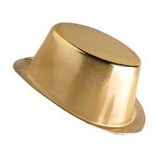 Sombrero chistera dorada
