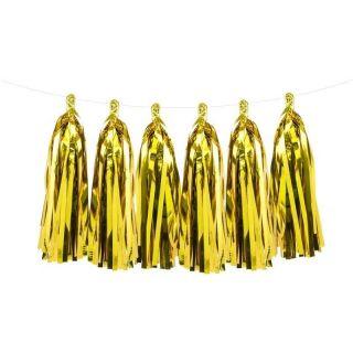 Guirnalda borlas doradas