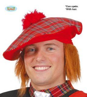 Sombrero escoces con pelo