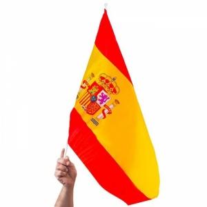 Bandera española con palo