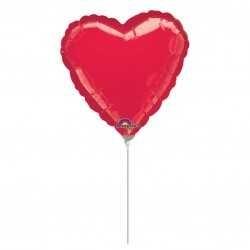 Mini globo corazón rojo