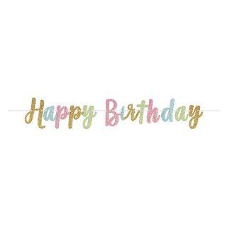 Guirnalda Happy Birthday purpurina