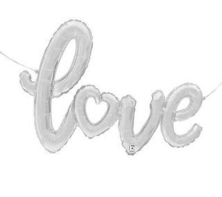 Globo metálico LOVE plata