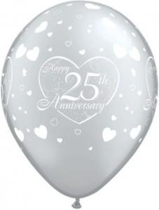 Globo 25 aniversario plata