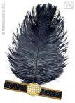 imagen Cinta charlestón plumas negro