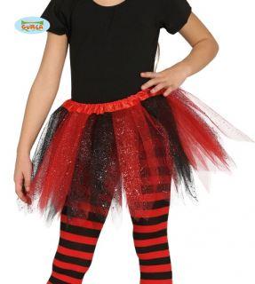 Tutu rojo y negro con puntas