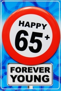 Tarjeta de cumpleaños Happy 65