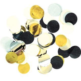 Confeti dorado, negro y blanco.