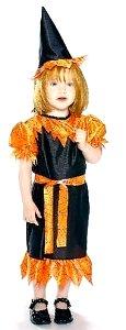 Disfraz de bruja en naranja