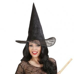 Sombrero de bruja con telarañas