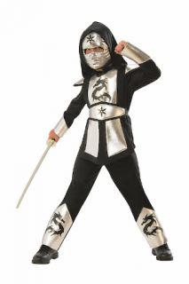 Disfraz ninja plateado