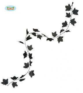 Guirnalda de hojas negras