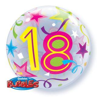 Globo bubble nº18 con estrellas
