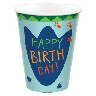 Vasos happy birthday Dino