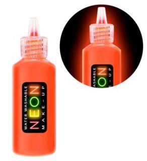 Bote de maquillaje rojo fluor
