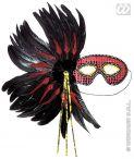 Antifaz surtido plumas