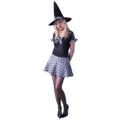 Disfraz de bruja colegiala Halloween