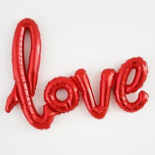 Globo metálico LOVE rojo