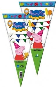 Cono Peppa Pig llena de golosinas