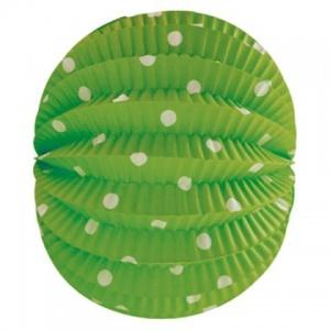 Farolillo verde pistacho con lunares en blanco