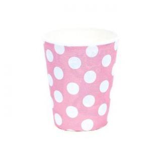 imagen Vasos rosa con lunares