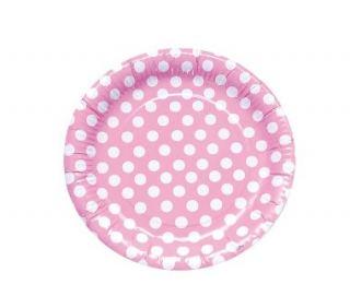 imagen Platos rosa con lunares
