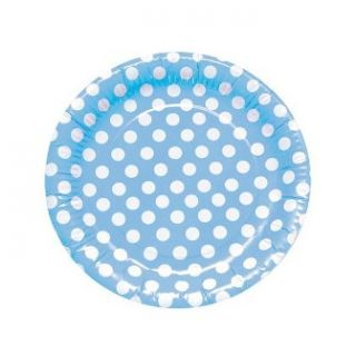 Platos azul con lunares