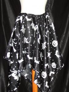 Falda halloween, brujas y calabazas