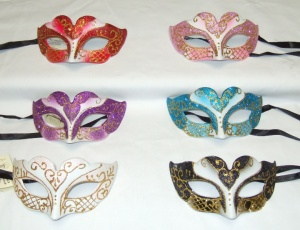 Mascaras venecianas Colombina Oro