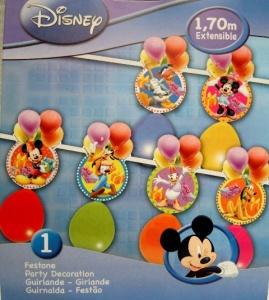 Guirnalda Mickey con globos